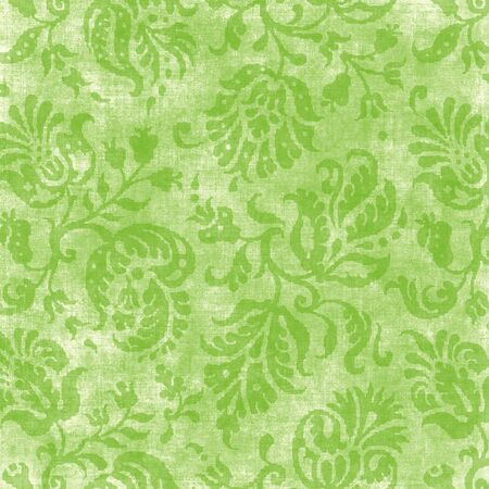 jacobean: Vintage Light Green Floral Tapestry Stock Photo