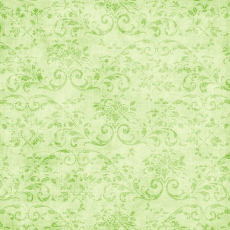Vintage Pale Green Floral Tapestry Stock Photo - 15467659