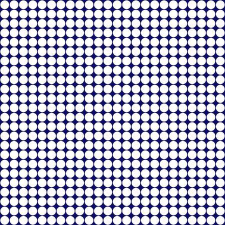 Deep Blue & White Retro Circles