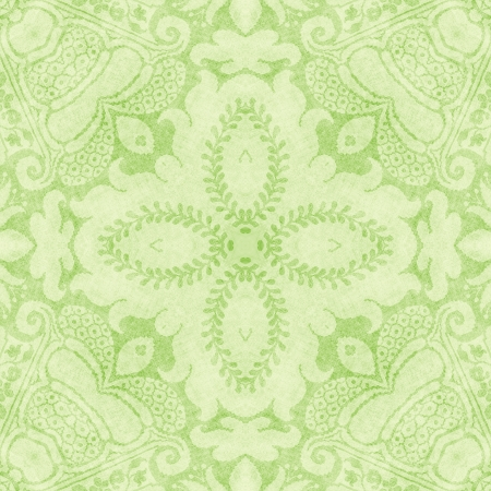 ヴィンテージ明るい緑のタペストリー 写真素材
