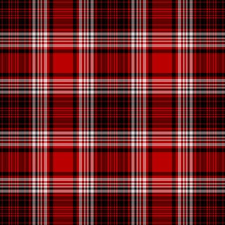 Seamless Red, White, & Black Plaid Stock Photo - 15586490