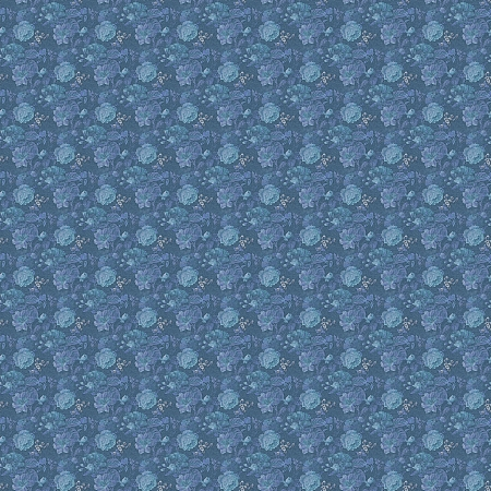 Seamless Denim Roses Background