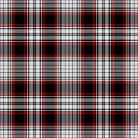 cuadros blanco y negro: Seamless Red Plaid Blanco, Negro Foto de archivo