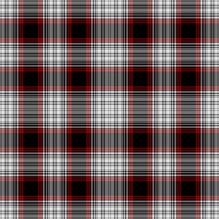 Seamless Red, White,   Black Plaid