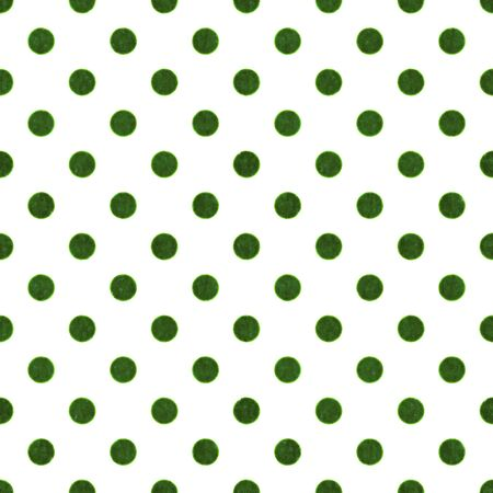 Seamless Green   White Polka Dot