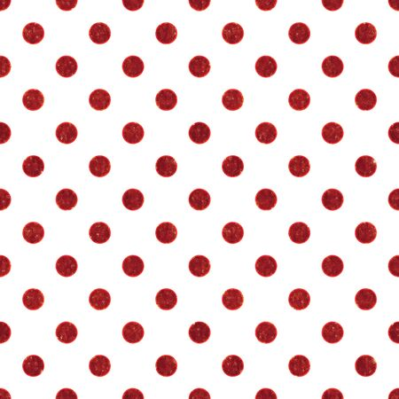 Seamless Red   White Polka Dot