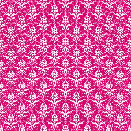 Seamless Pink   White Damask photo