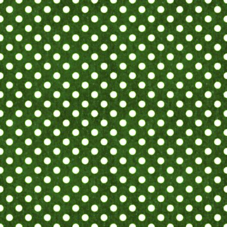 Seamless Green & White Polka Dot Stock Photo