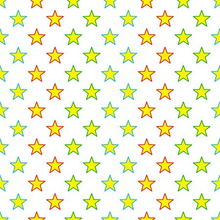 Seamless Colorful Stars Pattern