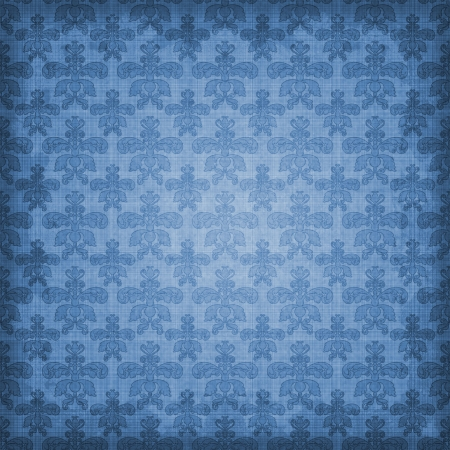 Shaded Blue Damask Background photo