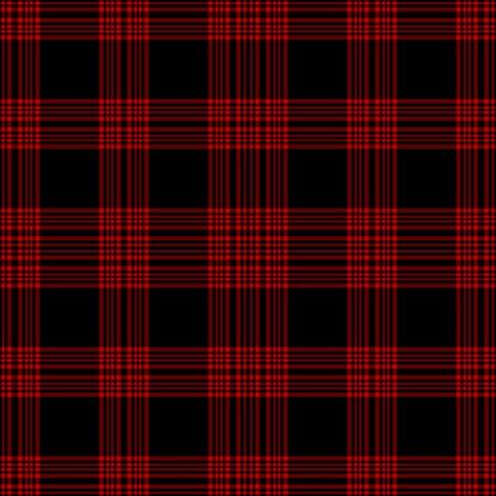 Seamless Black & Red Plaid 写真素材