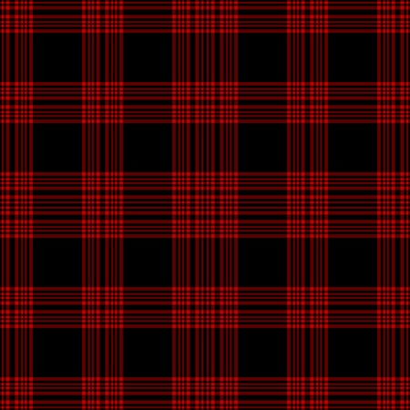 Seamless Black & Red Plaid Stock Photo