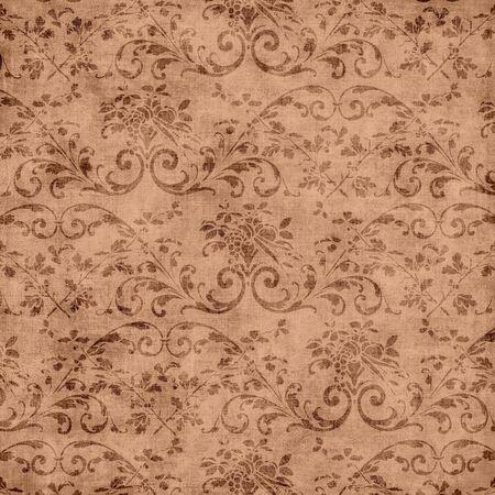 茶色の花のタペストリー パターン