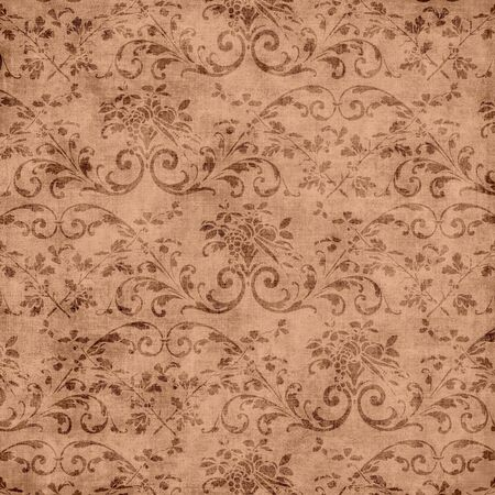 jacobean: Brown Floral Tapestry Pattern