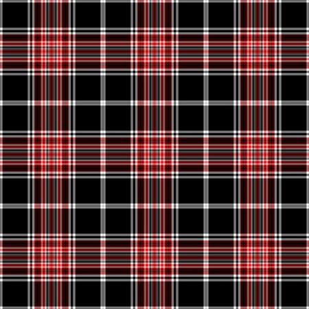 Seamless Black, White & Red Plaid Stock Photo