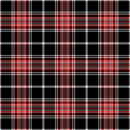 Seamless Black, White & Red Plaid Stock Photo