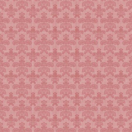 Seamless Pink Damask Stock Photo - 15748487