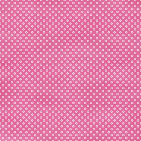 Bright Pink Polka Dot Stock Photo