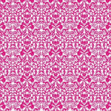 Seamless Hot Pink & White Damask photo