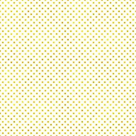 シームレスな白い & ゴールド水玉