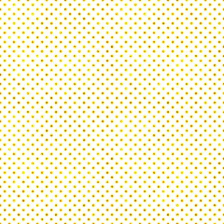 Seamless White & Gold Polka Dot