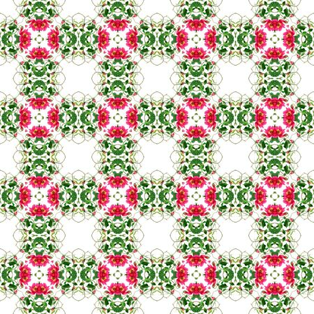 Seamless Roses Kaleidoscope Pattern photo