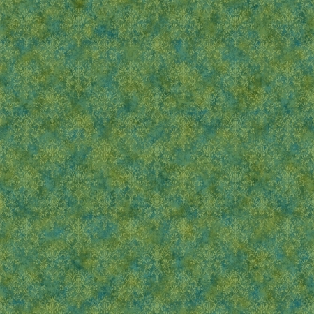 Seamless Green & Teal Damask