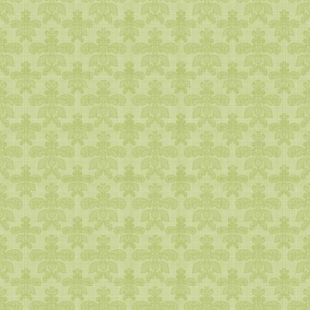 Seamless Green Damask photo