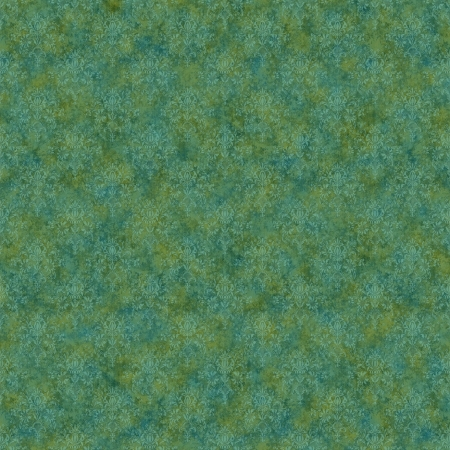 Seamless Green & Teal Damask Background