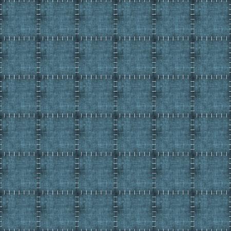 patchwork: Seamless Worn Denim Patchwork