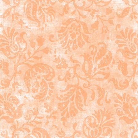Vintage Light Peach Floral Tapestry Фото со стока