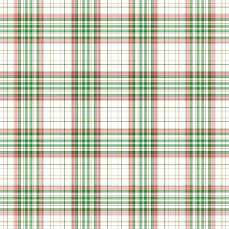 Bright Green & Pink Plaid on White Banco de Imagens
