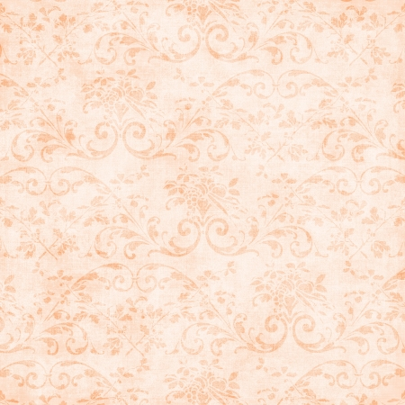 Vintage Pale Peach Floral Tapestry Stock Photo - 16355412