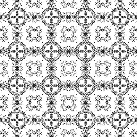 Seamless Black &amp, White Kaleidoscope Damask photo
