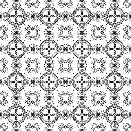 Seamless Black &amp, White Kaleidoscope Damask Stock Photo - 16451006