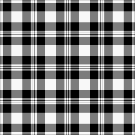 Seamless Black &amp, White Plaid Stock Photo