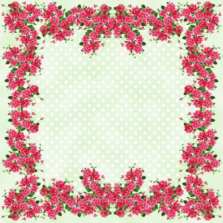 Rose Framed Pastel Polkadots