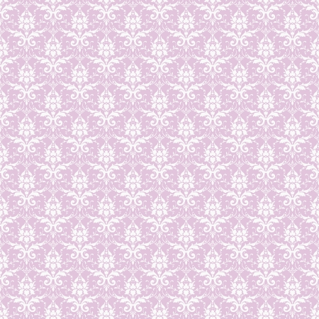 Seamless White & Lavender Damask Stock Photo - 16556190