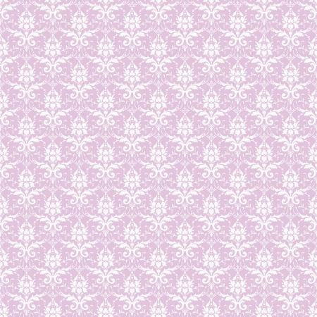 Seamless White & Lavender Damask Stock Photo - 16556190