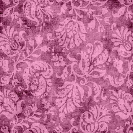 ヴィンテージ ピンク花のタペストリー 写真素材