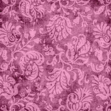 Vintage Pink Floral Tapestry Stock Photo