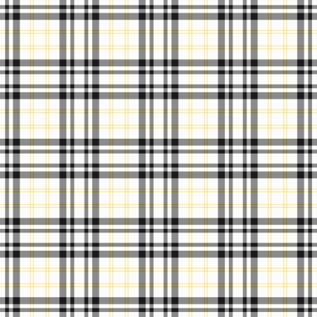 gingham: Seamless Black, White,   Yellow Plaid