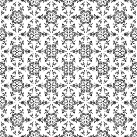 Seamless Black & White Kaleidoscope Damask Stock Photo - 16626488