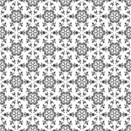 Seamless Black & White Kaleidoscope Damask Stock Photo - 16626488