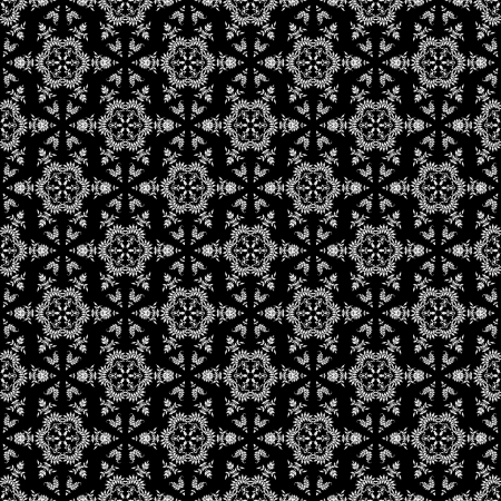 Seamless Black & White Kaleidoscope photo