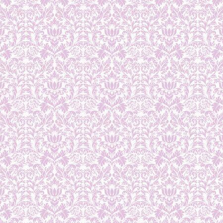 Seamless Lavender & White Damask