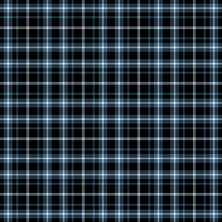 cadet blue: Seamless Blue, Black, & White Plaid Stock Photo