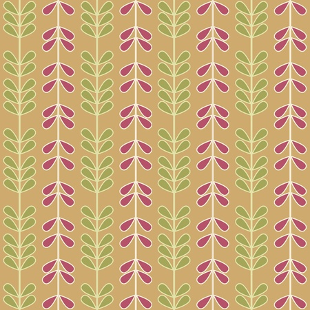 Seamless Abstract Vines & Leaves Stock Photo