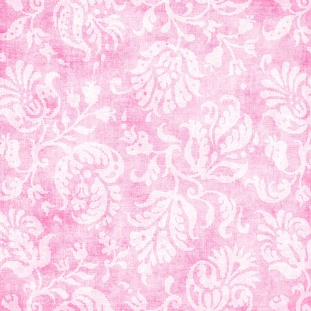jacobean: Vintage Light Pink Floral Tapestry Stock Photo