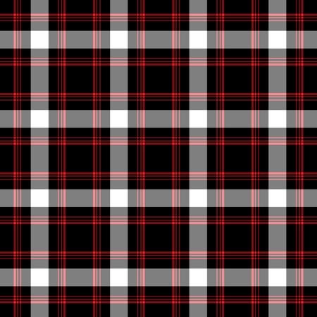 シームレスな赤、白、& 黒の格子縞 写真素材